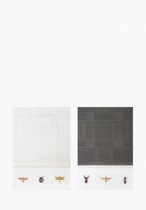 Набор полотенец кухонных Bellehome Wood bugs, 40х70 см