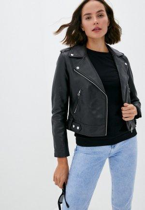Куртка кожаная Pimkie JSIMBALE. Цвет: черный