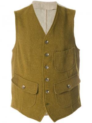 Жилетка с накладными карманами Fortela. Цвет: зелёный