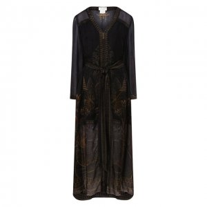 Шелковое платье Camilla. Цвет: коричневый