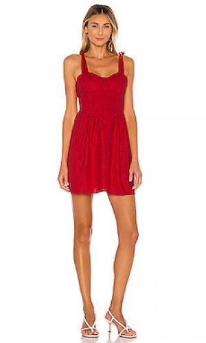 Платье kathryn LPA. Цвет: красный