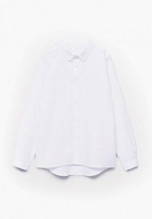 Рубашка Mango Kids GEMI. Цвет: белый