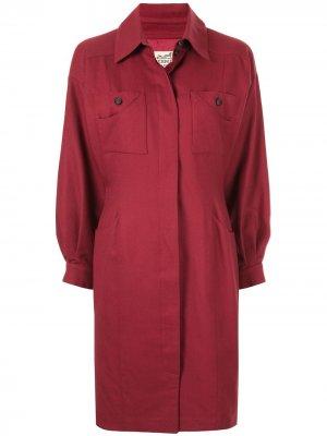 Пальто узкого кроя pre-owned Hermès. Цвет: красный