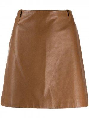Юбка 2000-х годов А-силуэта Prada Pre-Owned. Цвет: коричневый