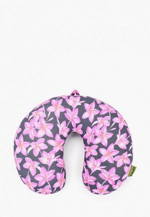 Подушка Gekoko для самолета. Цвет: серый