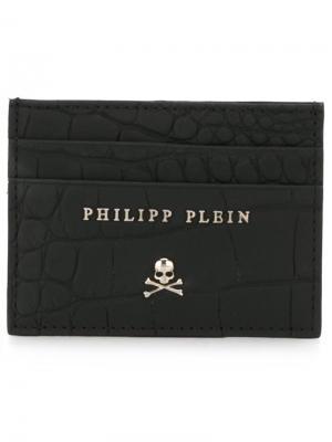 Визитница с черепом Philipp Plein. Цвет: чёрный