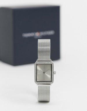 Серебристые часы с сетчатым браслетом -Серебристый Tommy Hilfiger