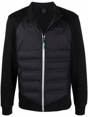 X Aston Marting Racing panelled padded jacket Hackett. Цвет: черный