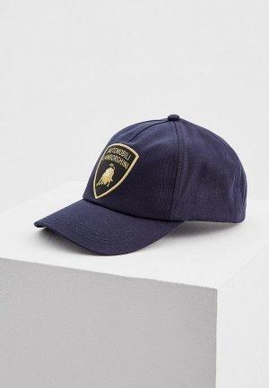 Бейсболка Automobili Lamborghini. Цвет: синий