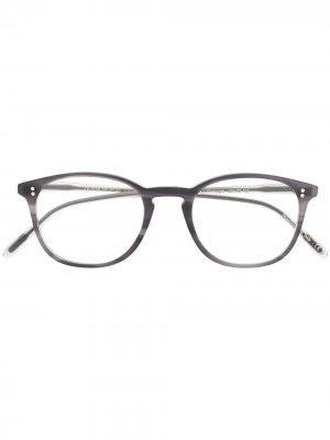 Очки Finley в квадратной оправе Oliver Peoples. Цвет: черный