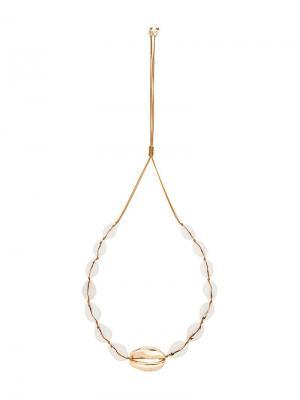 Ожерелье из ракушек Tohum. Цвет: metallic