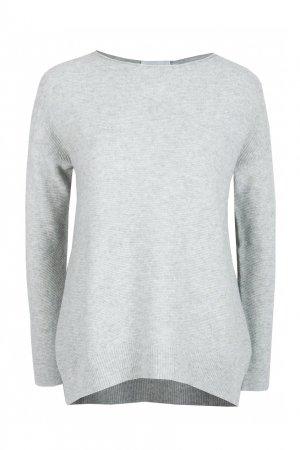 Серый однотонный пуловер Fabiana Filippi. Цвет: серый