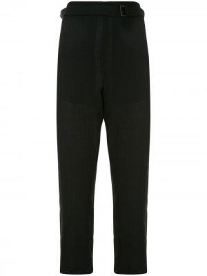 Креповые укороченные брюки Ann Demeulemeester. Цвет: черный