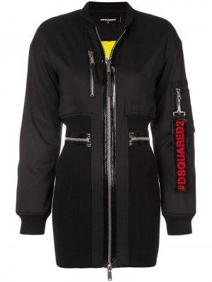 Платье с верхом в стилистике куртки-бомбер Dsquared2