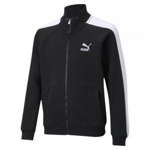 Детская олимпийка Classics T7 Youth Track Jacket PUMA. Цвет: черный