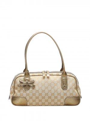 Сумка на плечо Princy с узором GG Gucci Pre-Owned. Цвет: коричневый