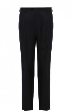 Классические брюки из смеси шерсти и шелка Brioni. Цвет: синий