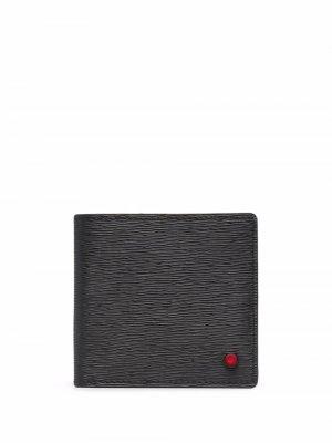 Фактурный бумажник Kiton. Цвет: черный