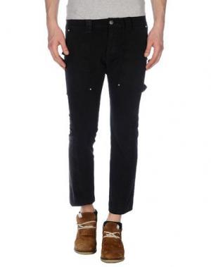 Джинсовые брюки-капри BAD SPIRIT. Цвет: черный