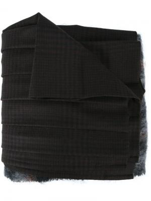 Длинный плиссированный шарф Bless. Цвет: чёрный