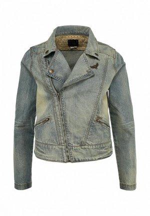 Куртка джинсовая Billabong BI009EWBSU61. Цвет: синий