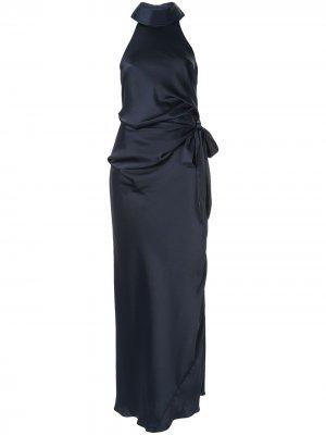Платье Antonelli с вырезом-халтер CAMILLA AND MARC. Цвет: синий