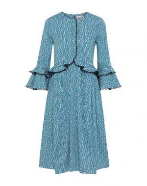 Платье до колена CAROLINA HERRERA. Цвет: синий