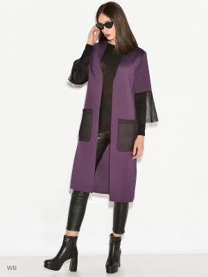 Пальто Colambetta. Цвет: фиолетовый, черный