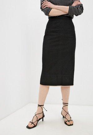 Юбка джинсовая N21. Цвет: черный