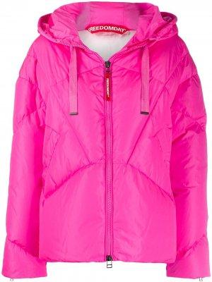 Непромокаемая куртка-пуховик Freedomday. Цвет: розовый