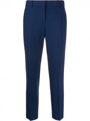 Укороченные брюки чинос Theory. Цвет: синий
