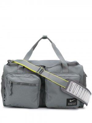 Спортивная сумка Utility Power Nike. Цвет: серый