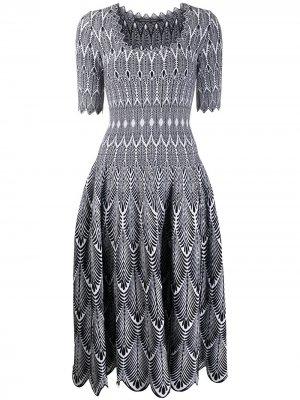 Трикотажное платье миди Antonino Valenti. Цвет: белый