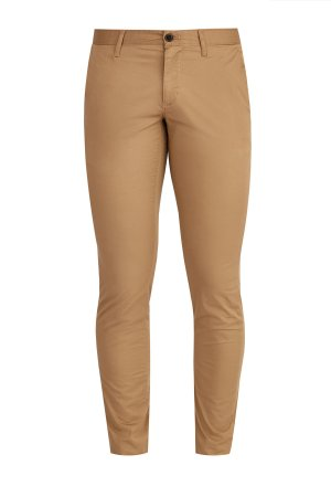 Базовые брюки облегающего силуэта из гладкого хлопка stretch MICHAEL KORS. Цвет: коричневый