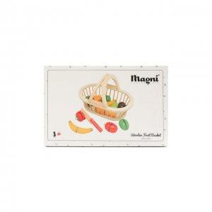 Игрушечная корзина с фруктами Magni. Цвет: разноцветный
