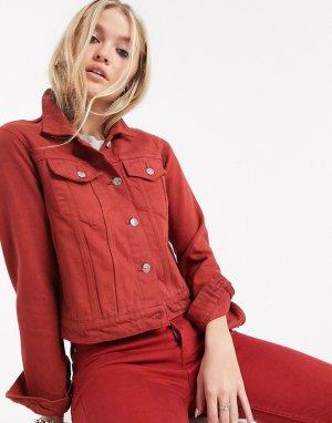 Джинсовая куртка -Красный Bolongaro Trevor