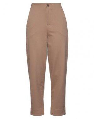 Повседневные брюки EUROPEAN CULTURE. Цвет: верблюжий