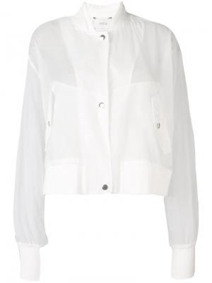 Полупрозрачная куртка-бомбер Dorothee Schumacher. Цвет: белый