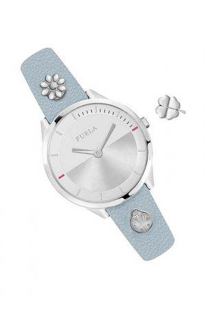 Наручные часы и съемный шарм Furla. Цвет: голубой