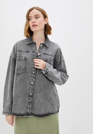 Куртка джинсовая Zolla. Цвет: серый
