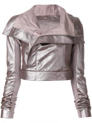 Укороченная куртка Rick Owens. Цвет: розовый и фиолетовый