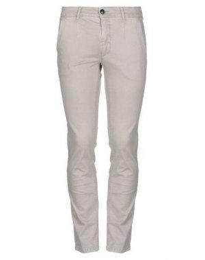 Повседневные брюки JULIAN KEEN. Цвет: светло-серый