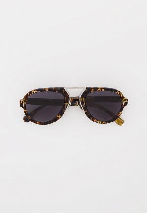 Очки солнцезащитные Fendi FF M0104/S 2VM. Цвет: коричневый