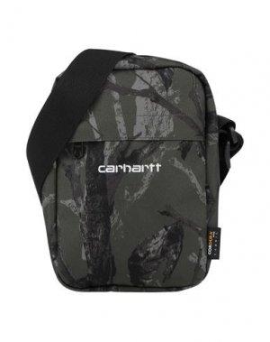 Сумка через плечо CARHARTT. Цвет: зеленый-милитари
