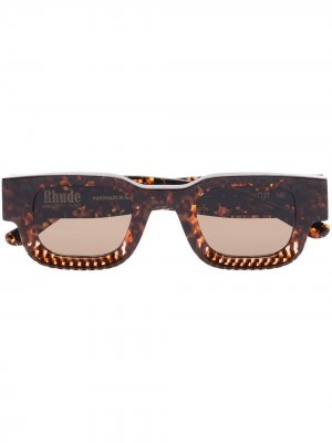 Солнцезащитные очки Rhevision 670 из коллаборации с Rhude Thierry Lasry. Цвет: коричневый