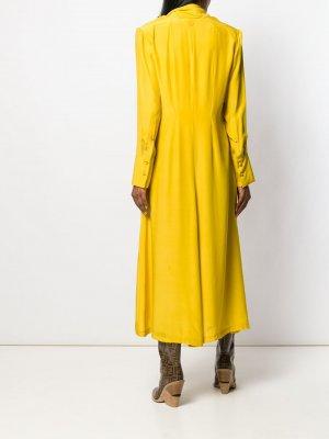 Длинное платье A.F.Vandevorst. Цвет: желтый