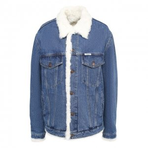 Джинсовая куртка с меховой подкладкой Forte Dei Marmi Couture. Цвет: разноцветный