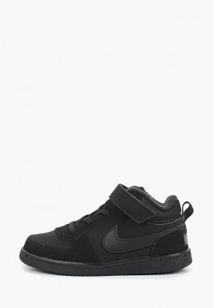 Кеды Nike BOYS COURT BOROUGH MID (TD) TODDLER SHOE. Цвет: черный