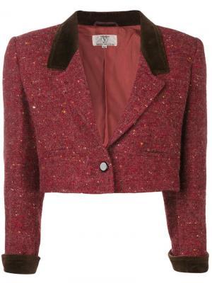 Твидовый пиджак 1980-го года Valentino Pre-Owned. Цвет: красный
