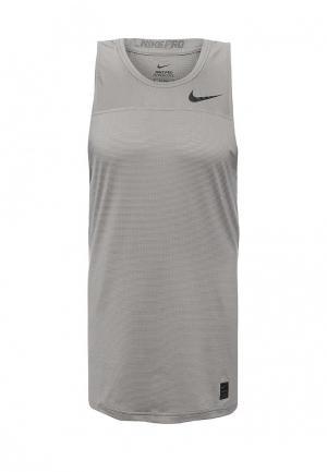 Майка спортивная Nike M NP HPRCL TANK FTTD. Цвет: серый